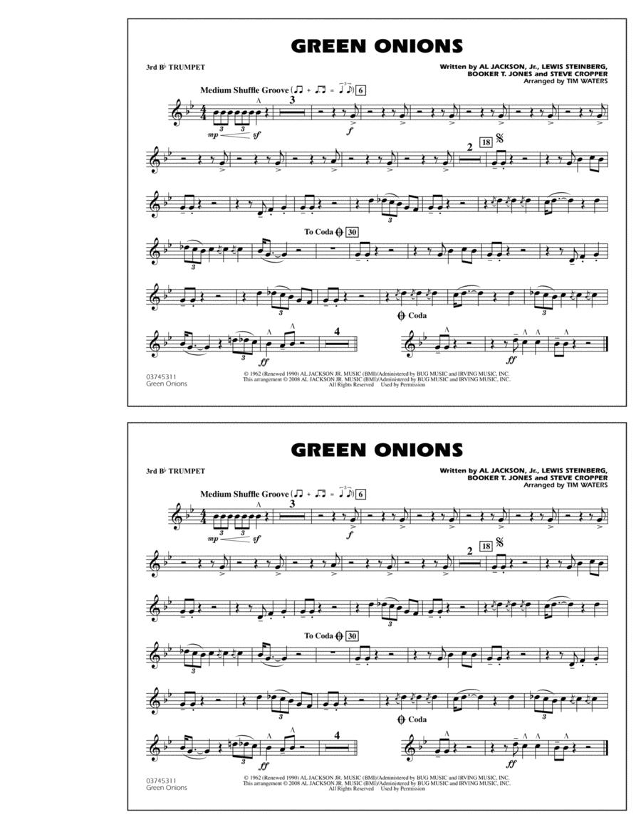 Green Onions - 3rd Bb Trumpet