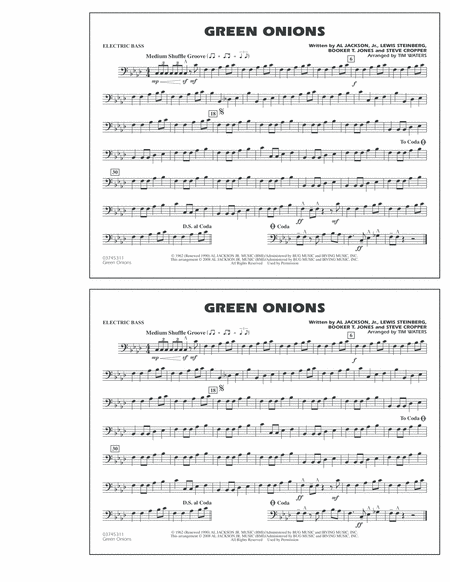 Green Onions - Electric Bass