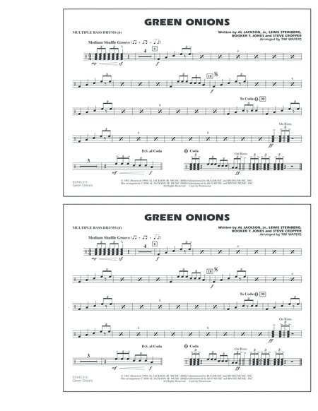 Green Onions - Multiple Bass Drums