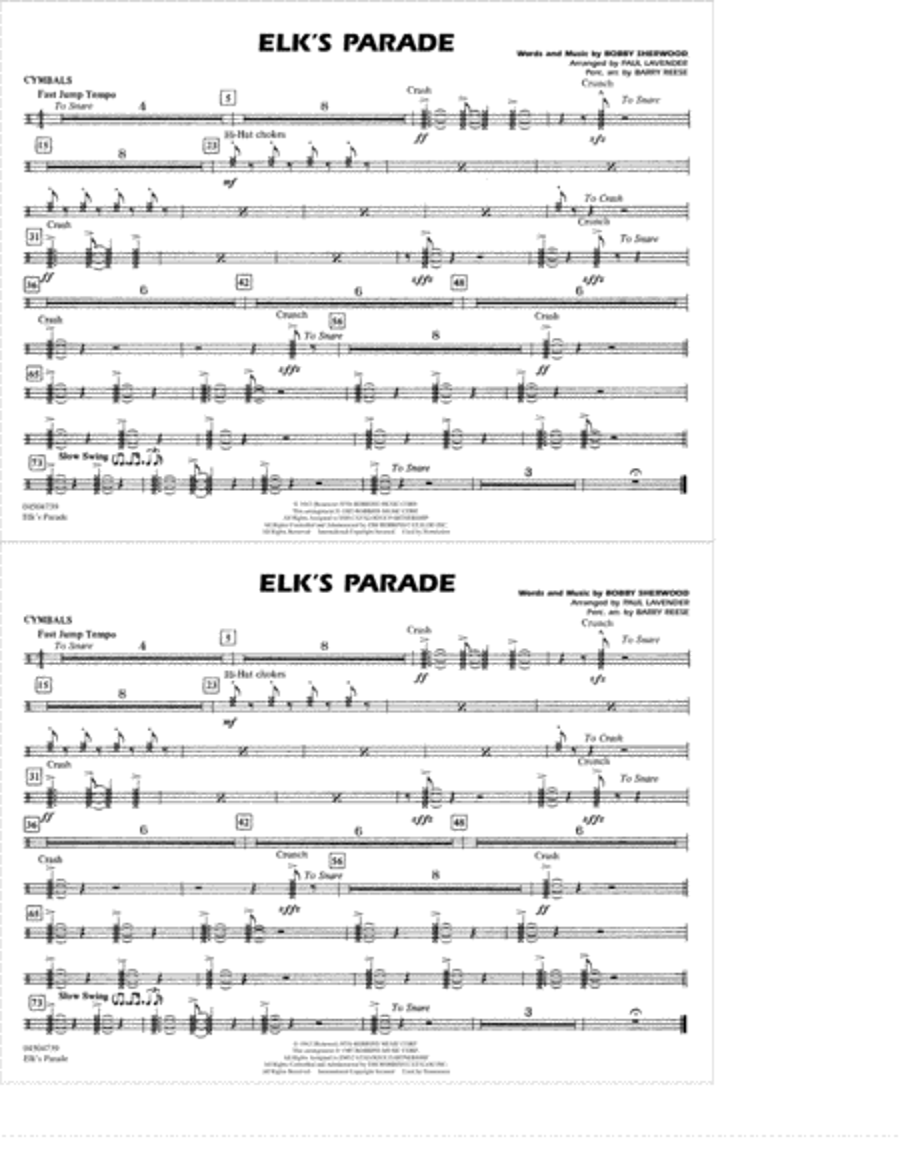 Elk's Parade - Cymbals