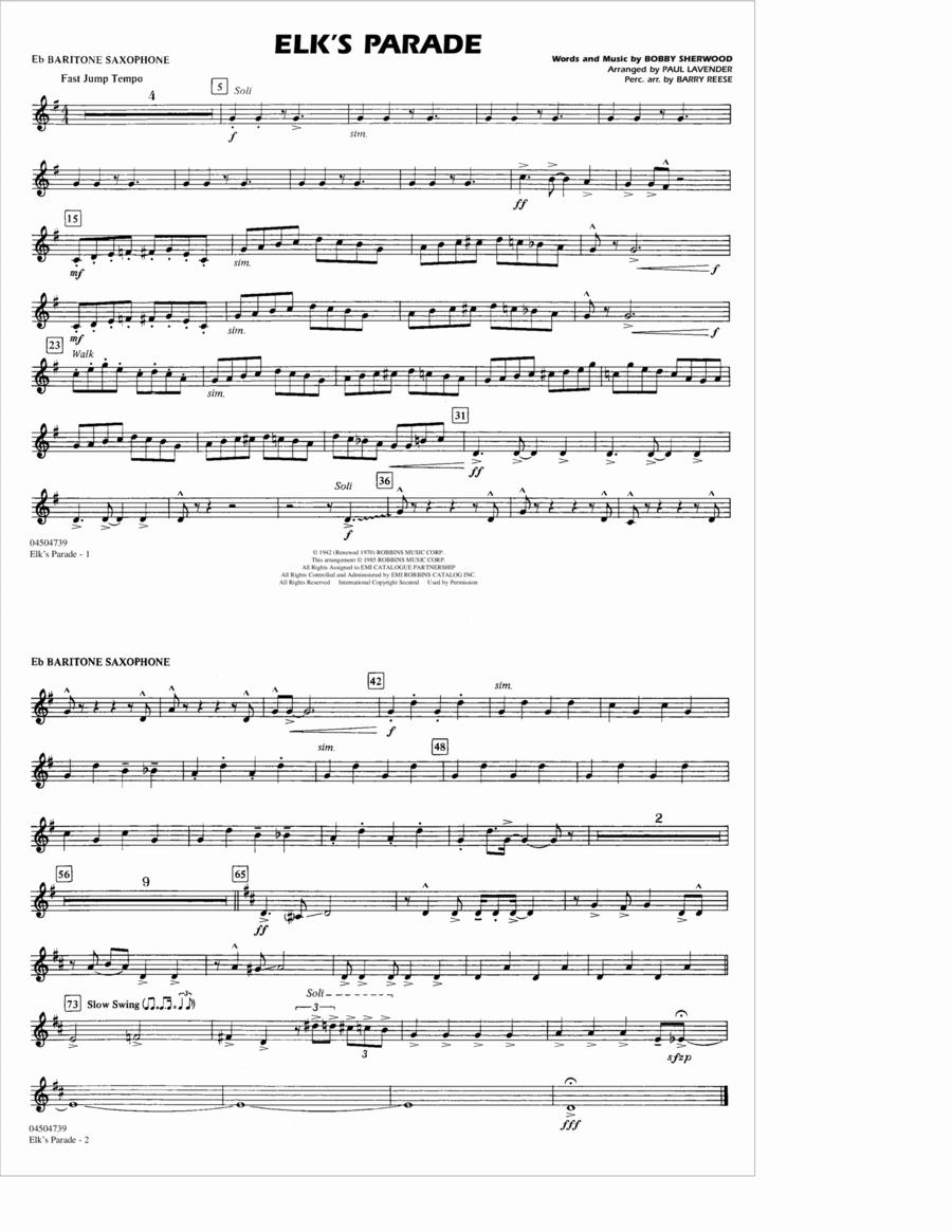 Elk's Parade - Eb Baritone Sax