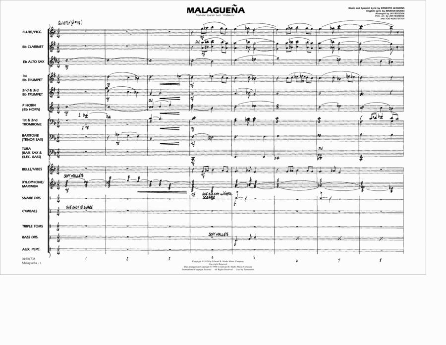 Malaguena - Conductor Score (Full Score)
