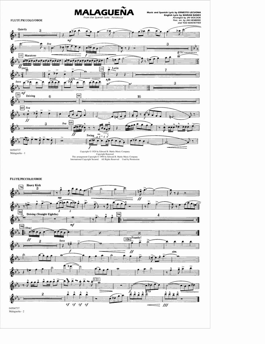 Malaguena - Flute/Picc./Oboe