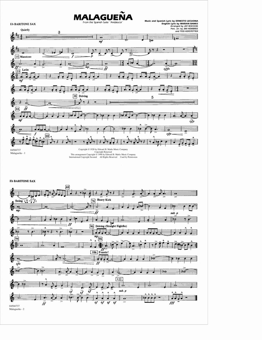 Malaguena - Eb Baritone Sax