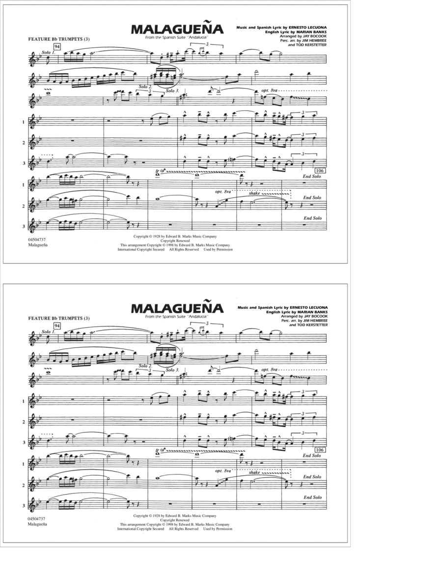 Malaguena - Feature Bb Trumpets (3)