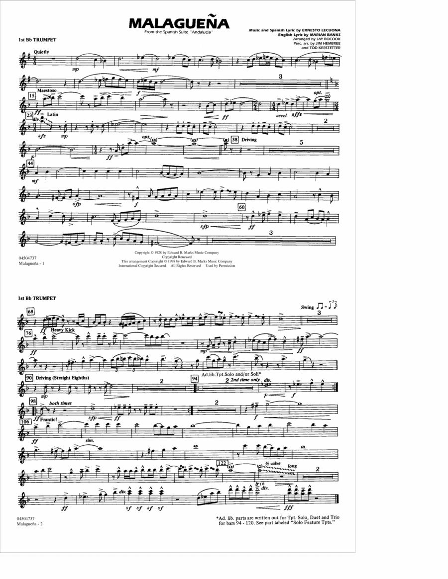 Malaguena - 1st Bb Trumpet