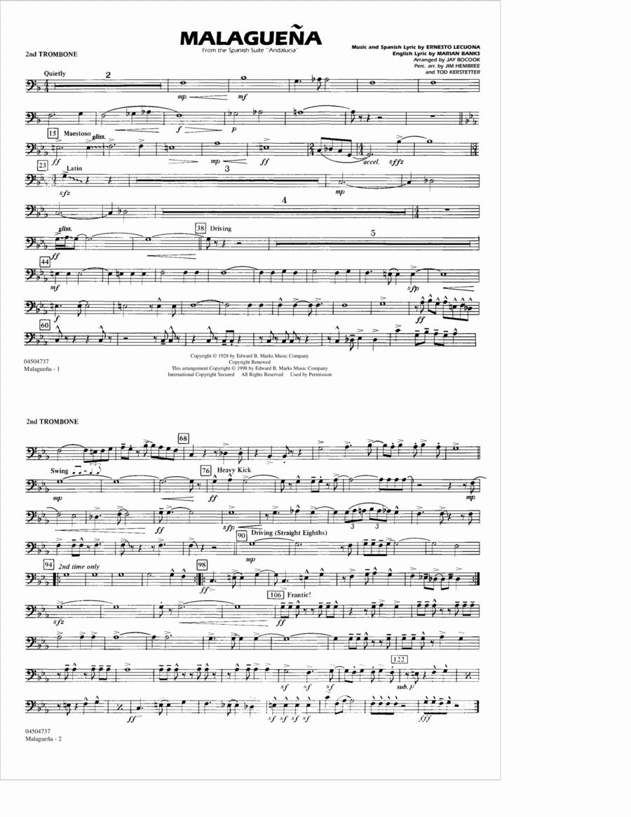 Malaguena - 2nd Trombone