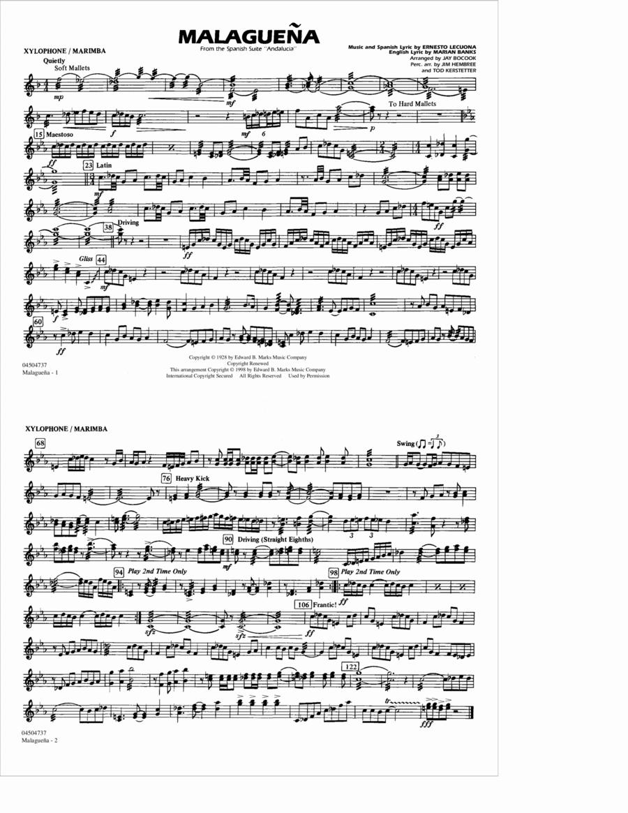 Malaguena - Xylophone/Marimba