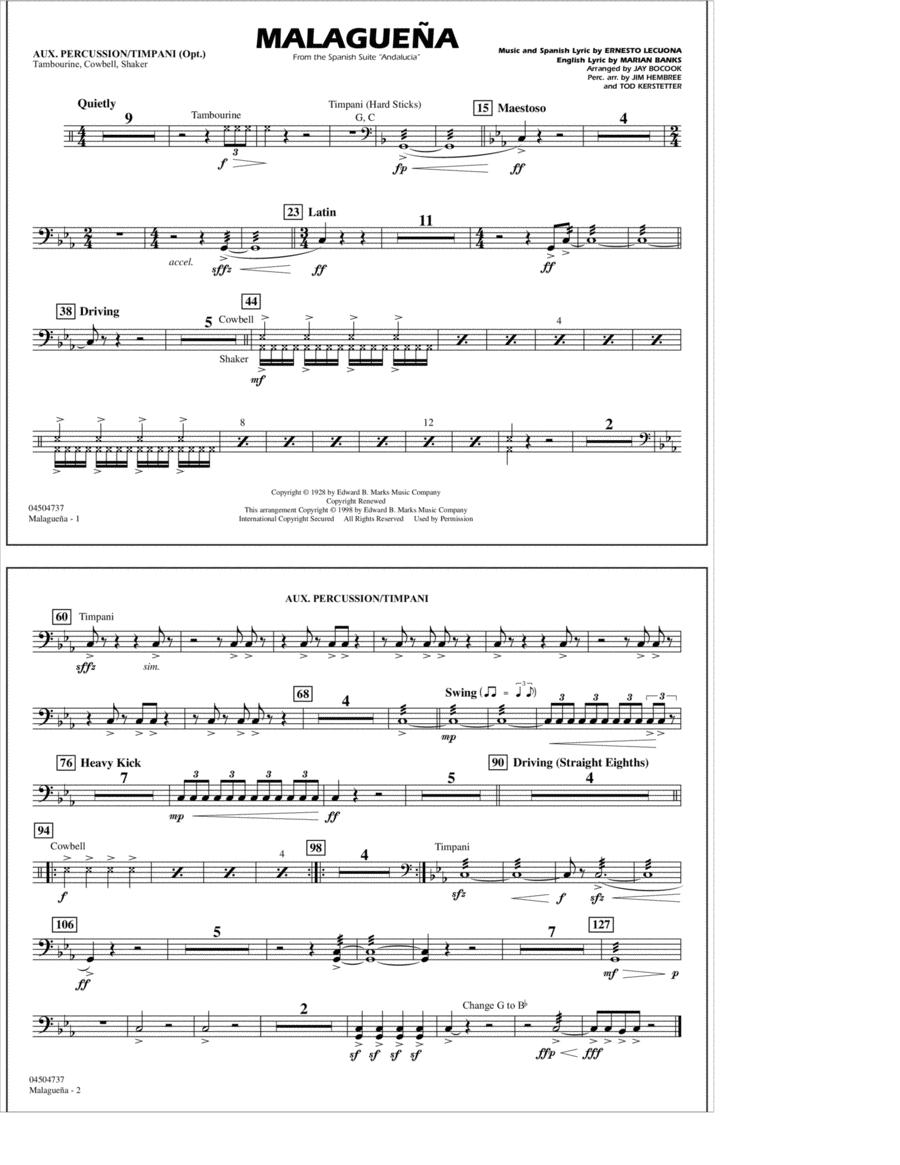 Malaguena - Aux. Percussion/Timpani