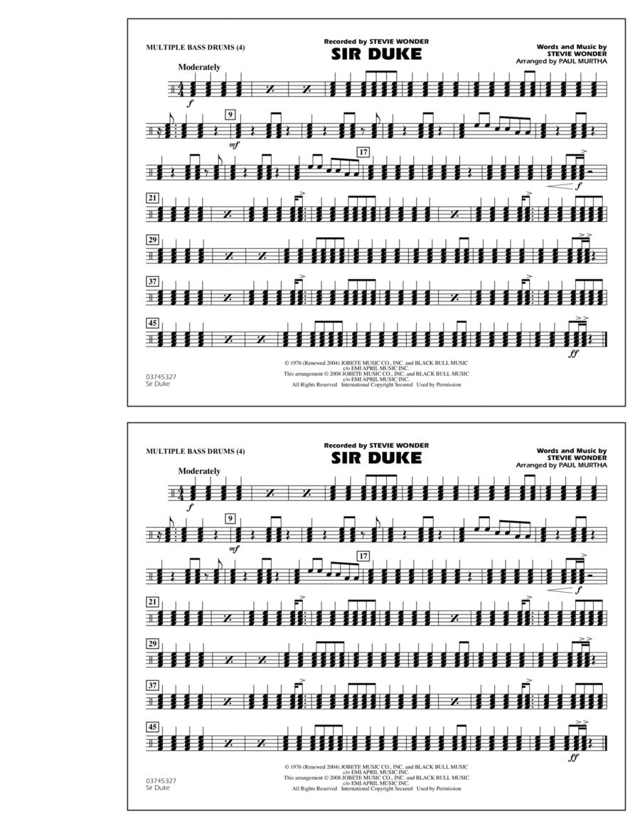 Sir Duke - Multiple Bass Drums