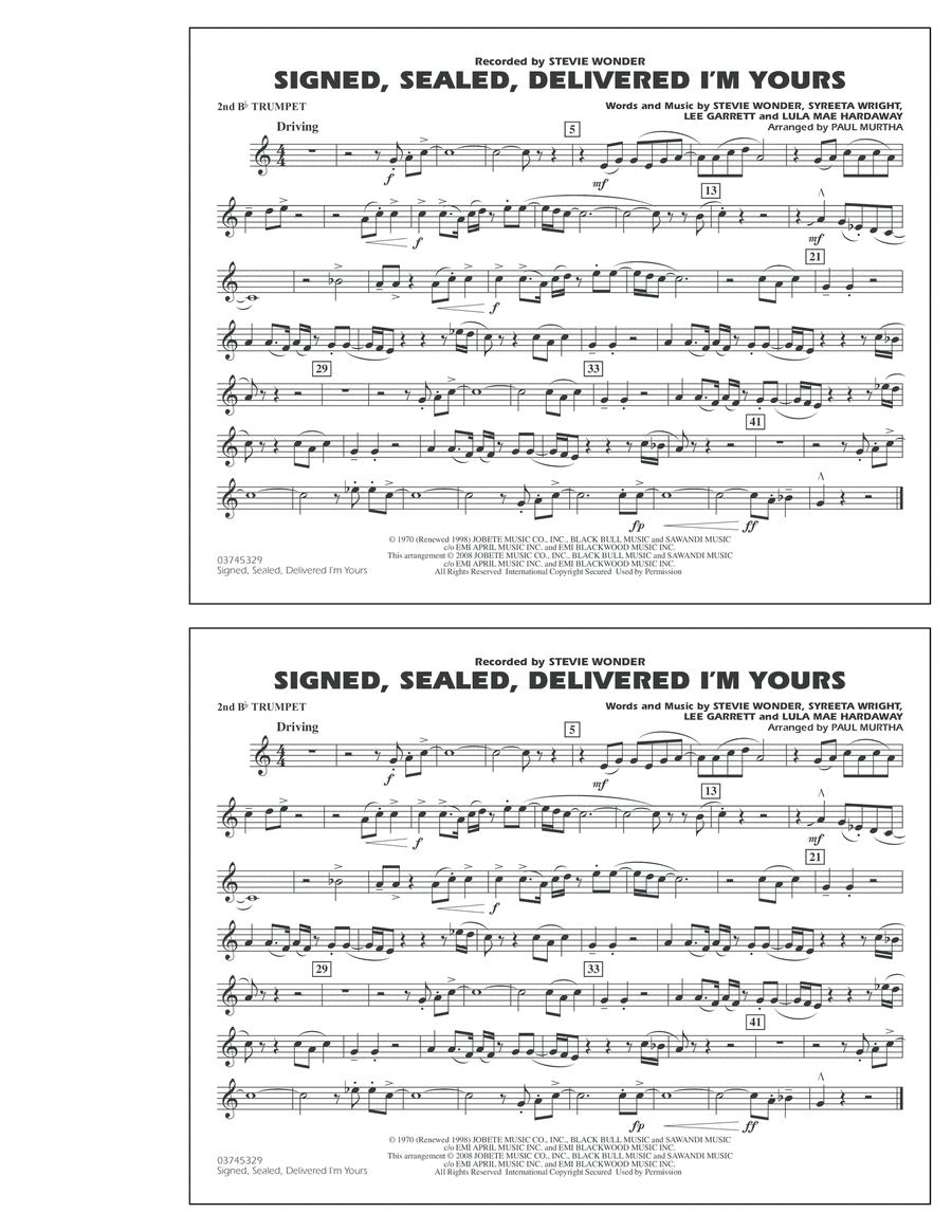 Signed, Sealed, Delivered I'm Yours - 2nd Bb Trumpet