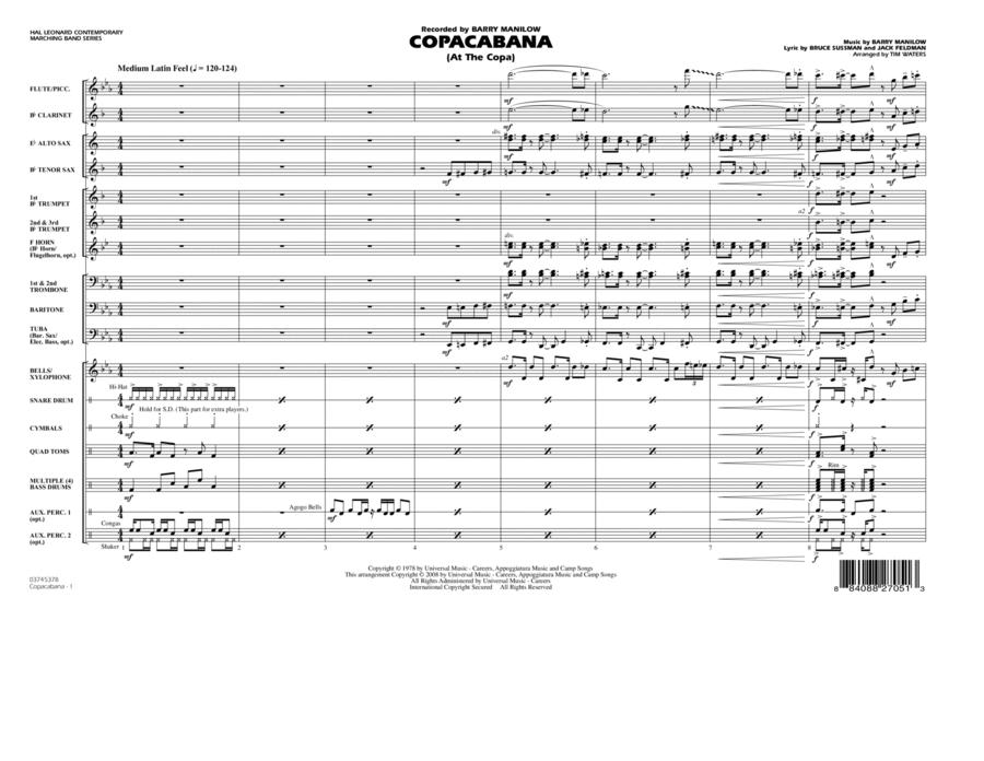 Copacabana (At the Copa) - Full Score