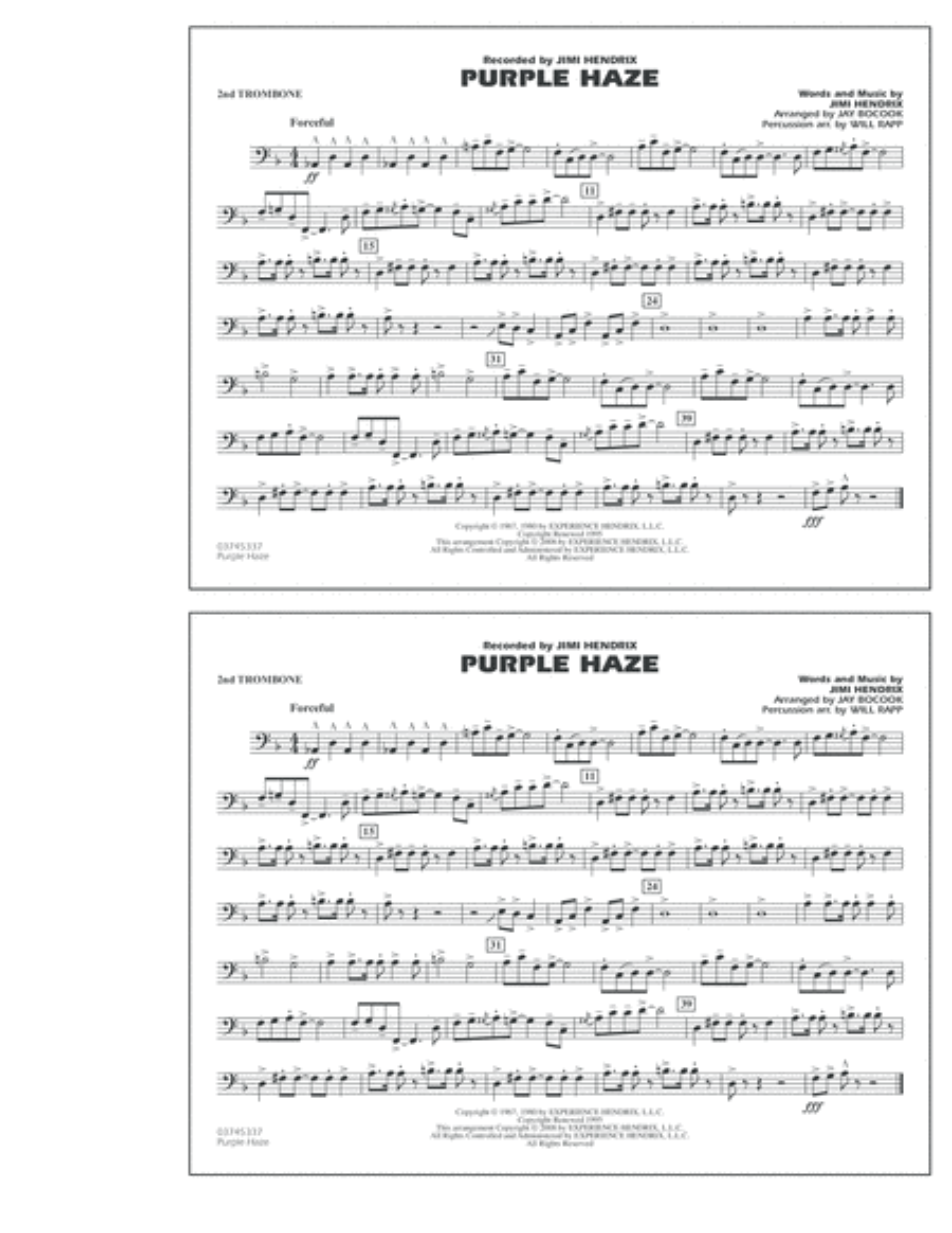 Purple Haze - 2nd Trombone
