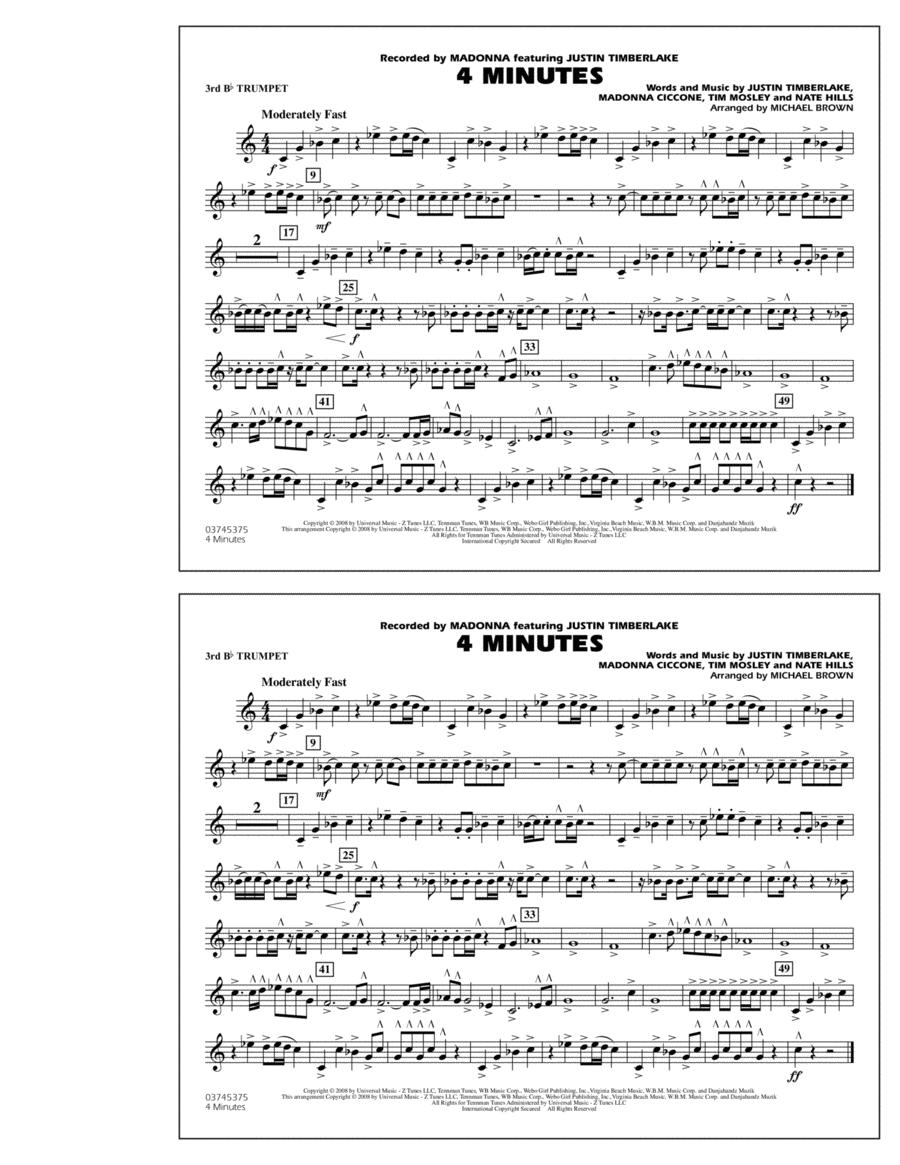 4 Minutes - 3rd Bb Trumpet
