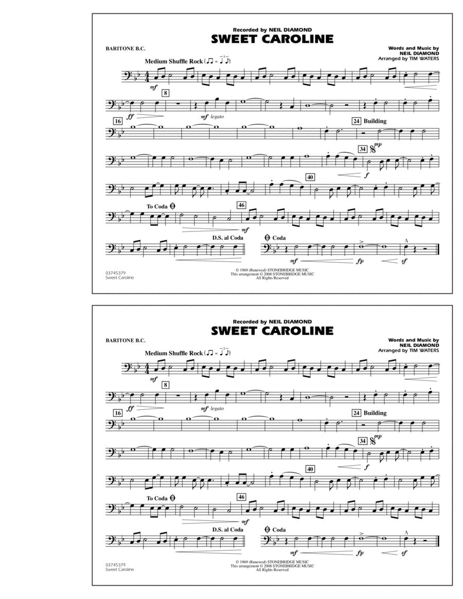 Sweet Caroline - Baritone B.C.