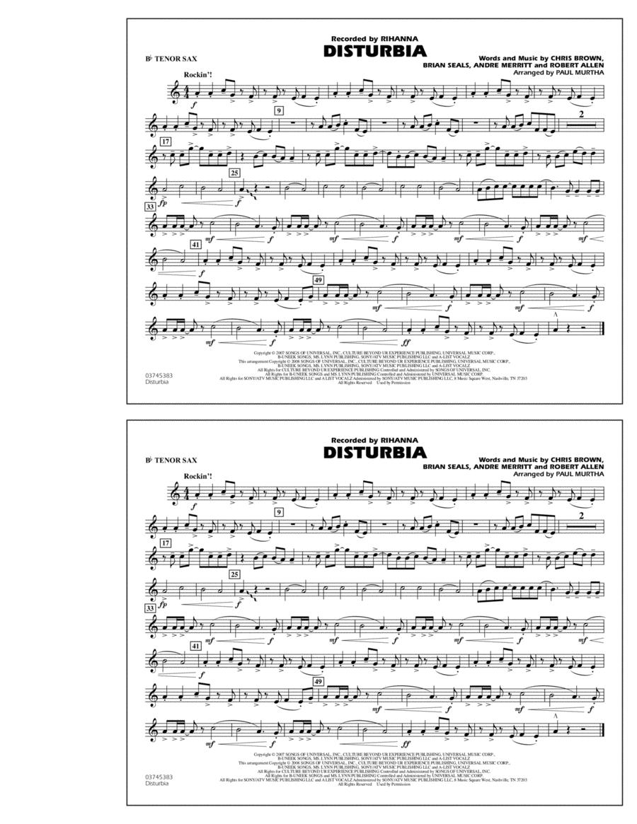 Disturbia - Bb Tenor Sax