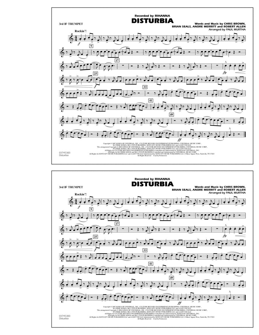 Disturbia - 3rd Bb Trumpet