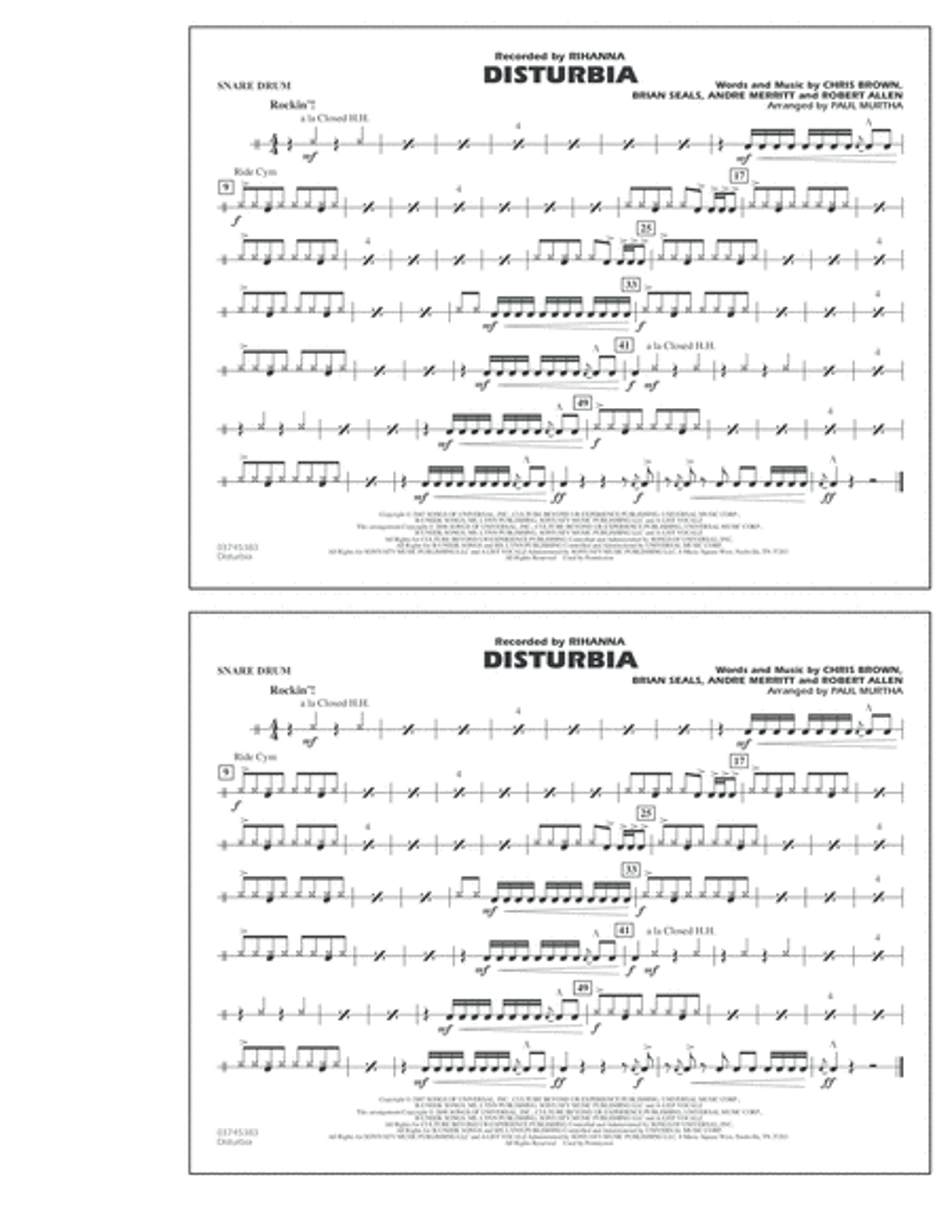 Disturbia - Snare Drum