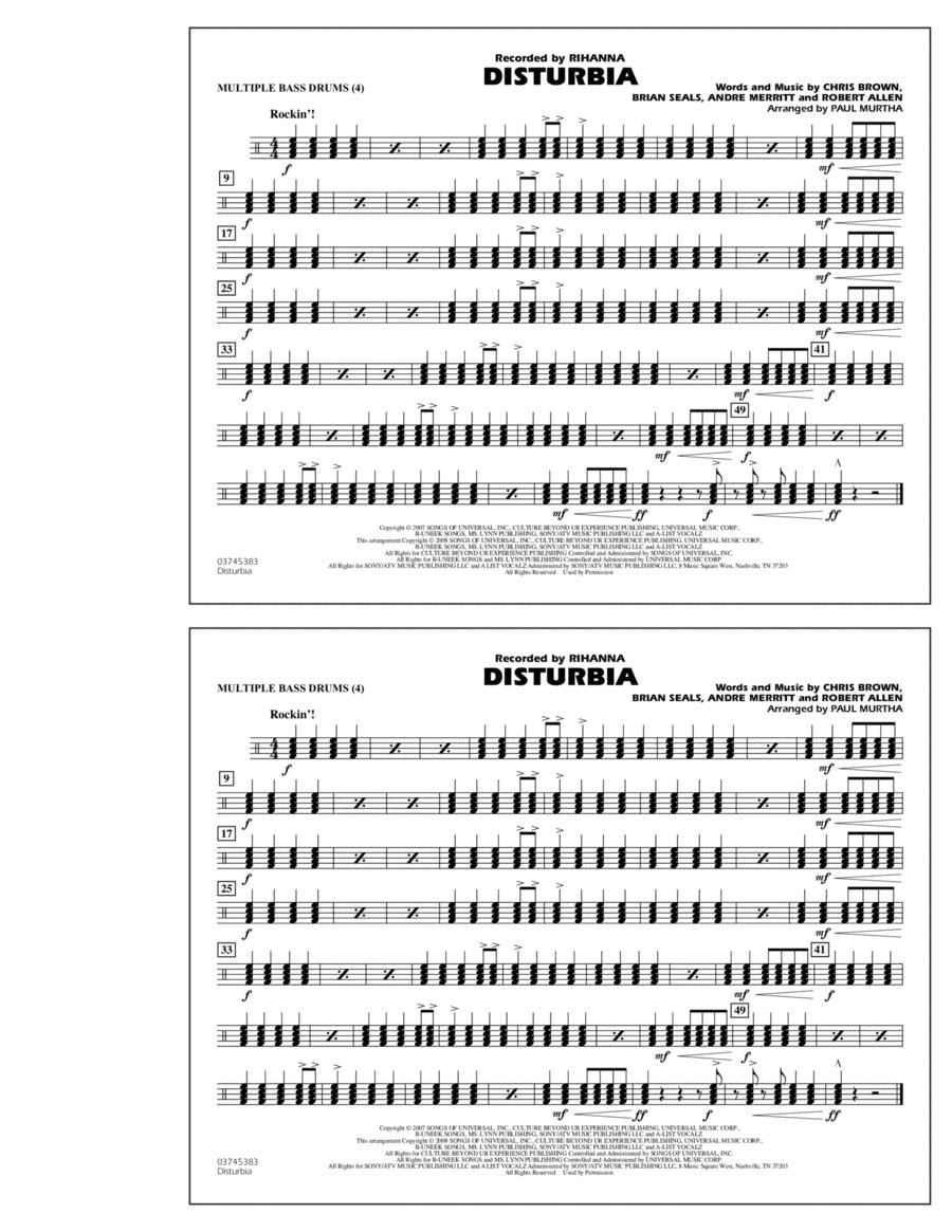 Disturbia - Multiple Bass Drums