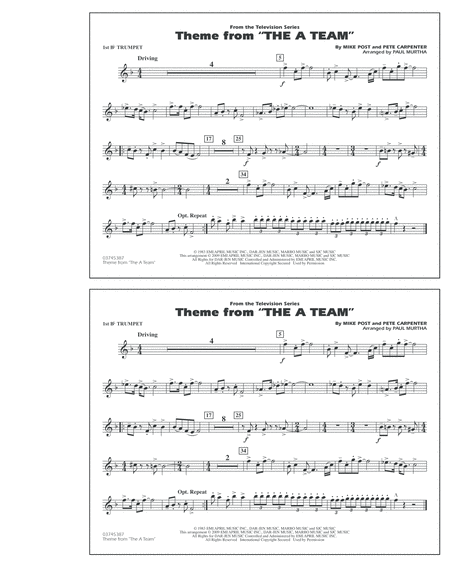 Theme from The A-Team - 1st Bb Trumpet