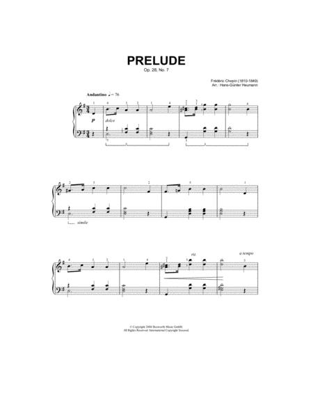 Prelude Op. 28, No. 7