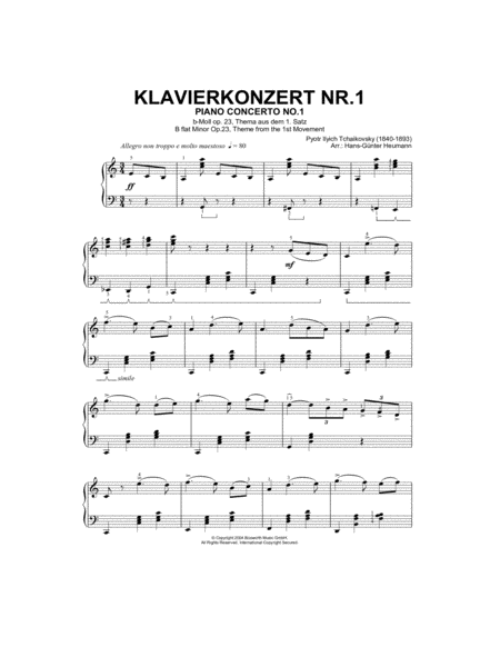 Piano Concerto No. 1 In Bb Minor Op. 23