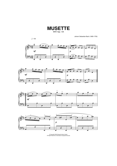 Musette In D Major, BWV App. 126