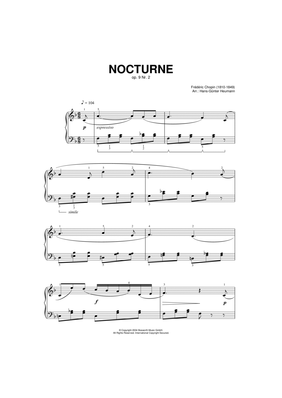 Nocturne, Op. 9, No. 2