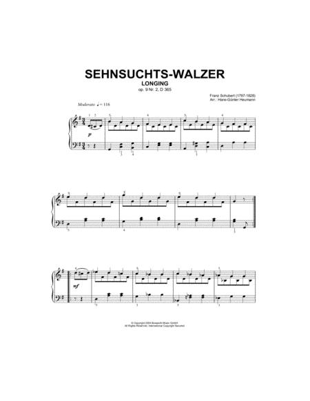 Sehnsuchts-Walzer (Longing), Op.9, No.2, D365