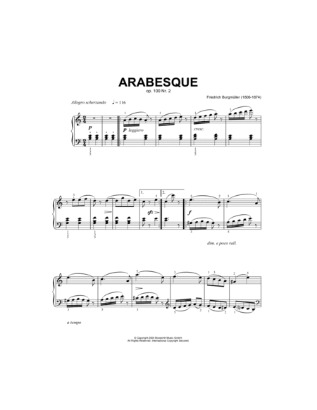 Arabesque, Op.100, No.2