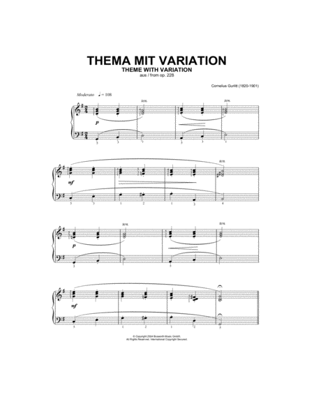 Theme With Variation, From Op.228