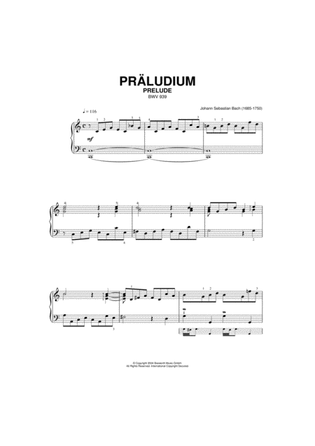 Prelude, BWV 939