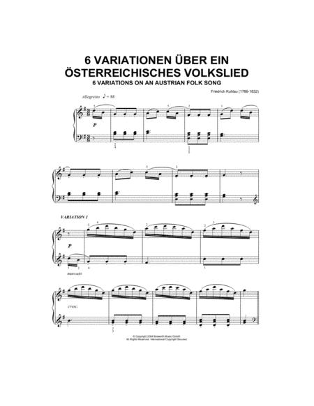 Six Variations On An Austrian Folk Song