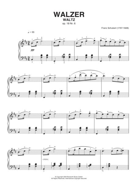 Waltz Op. 18, No. 6