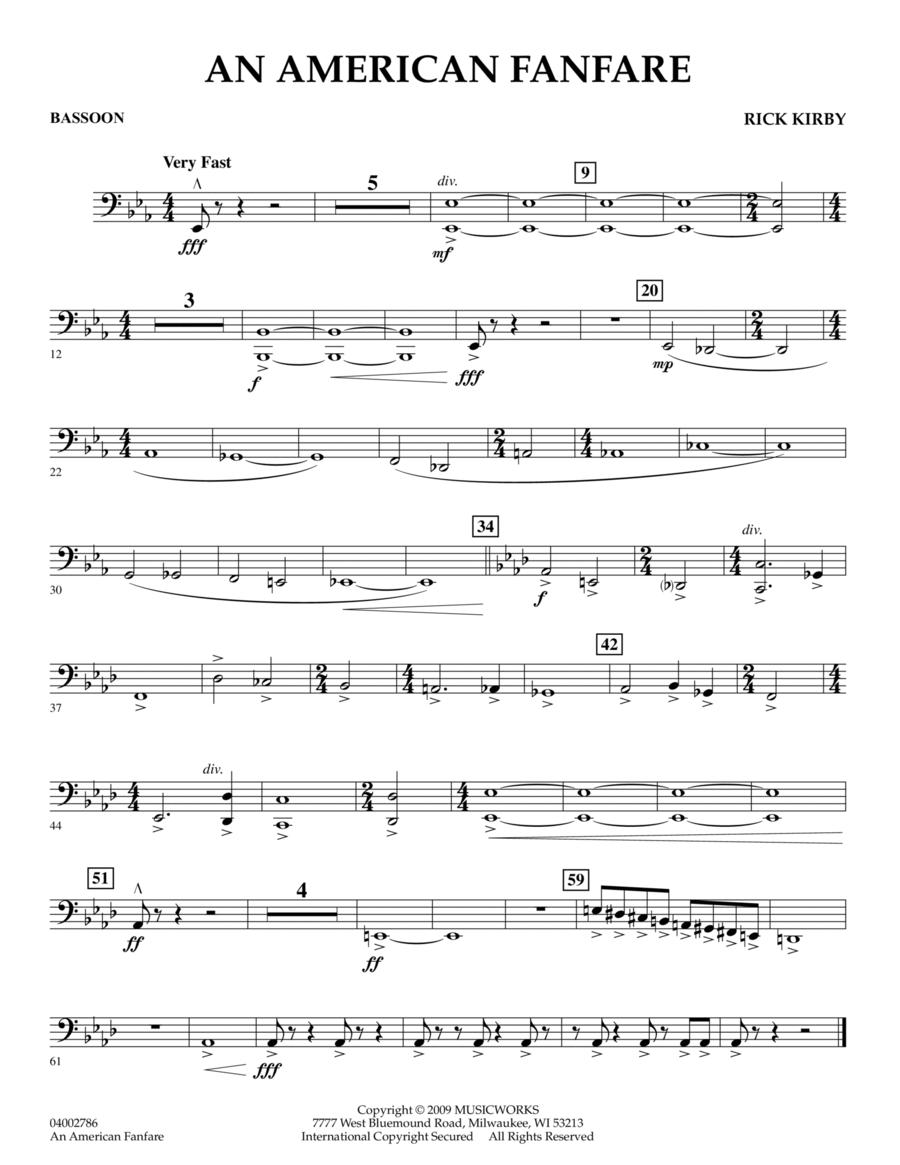 An American Fanfare - Bassoon