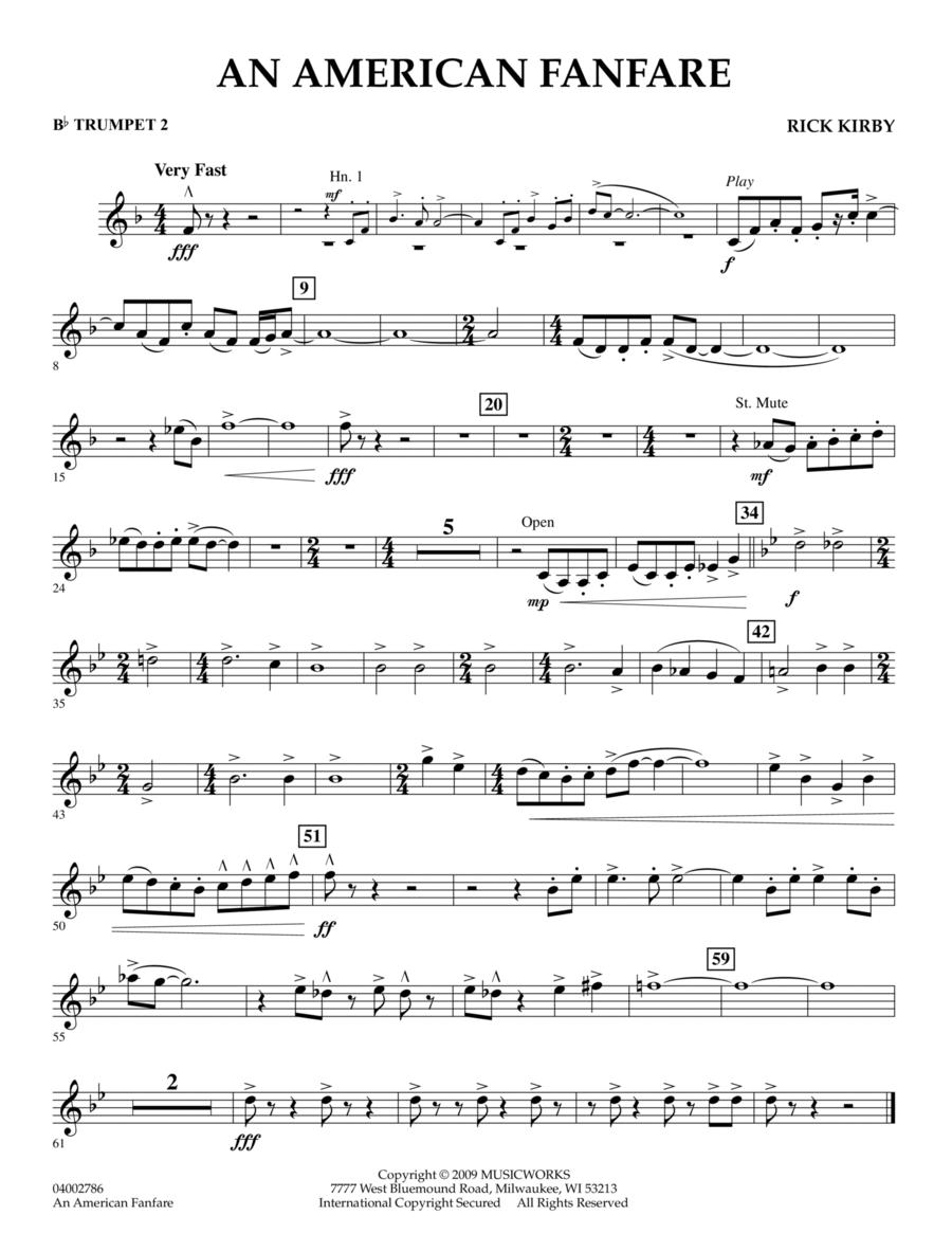 An American Fanfare - Bb Trumpet 2