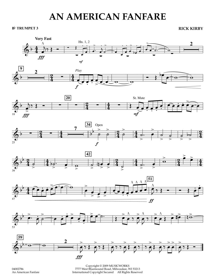 An American Fanfare - Bb Trumpet 3