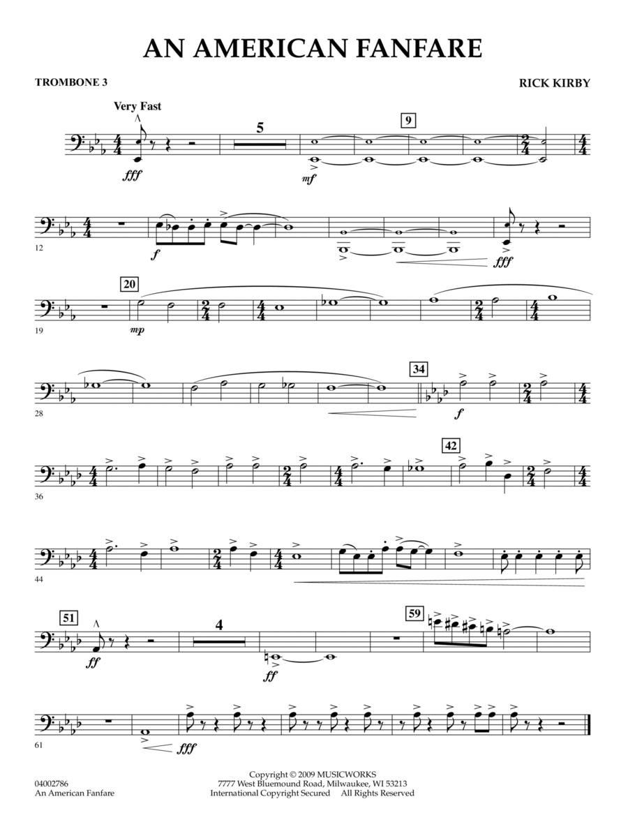 An American Fanfare - Trombone 3