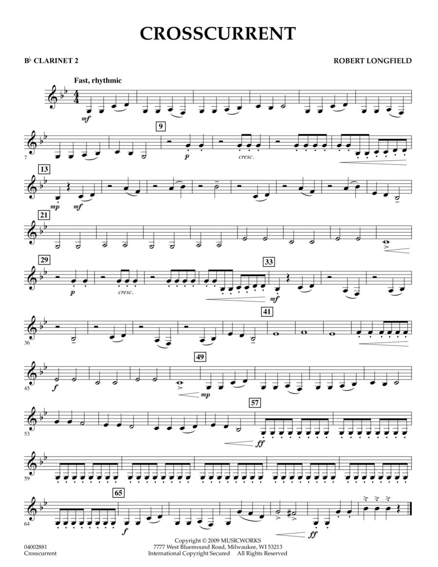 Crosscurrent - Bb Clarinet 2
