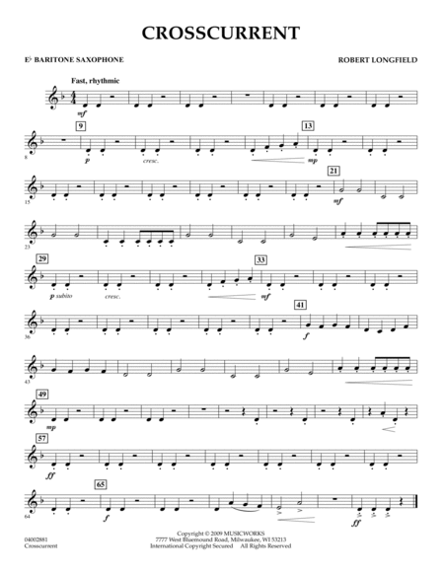 Crosscurrent - Eb Baritone Saxophone