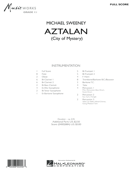 Aztalan (City of Mystery) - Full Score