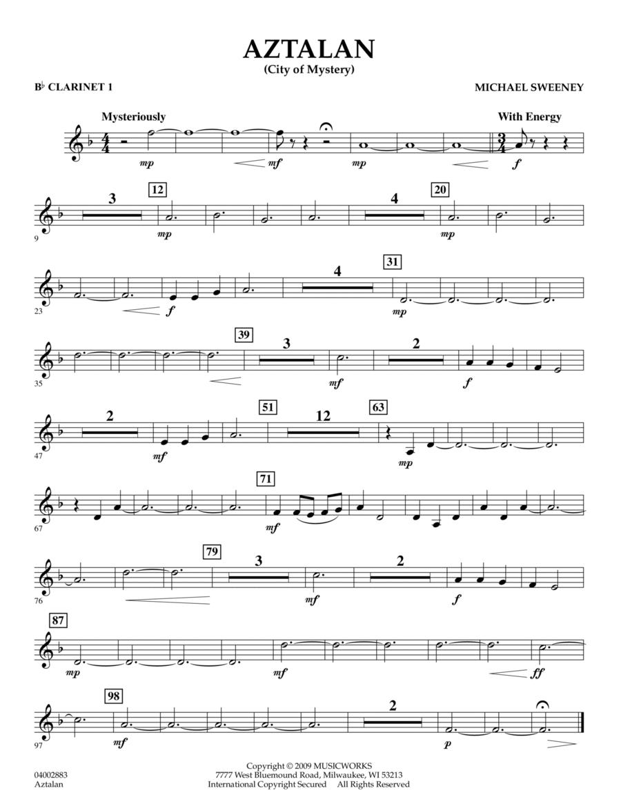 Aztalan (City of Mystery) - Bb Clarinet 1