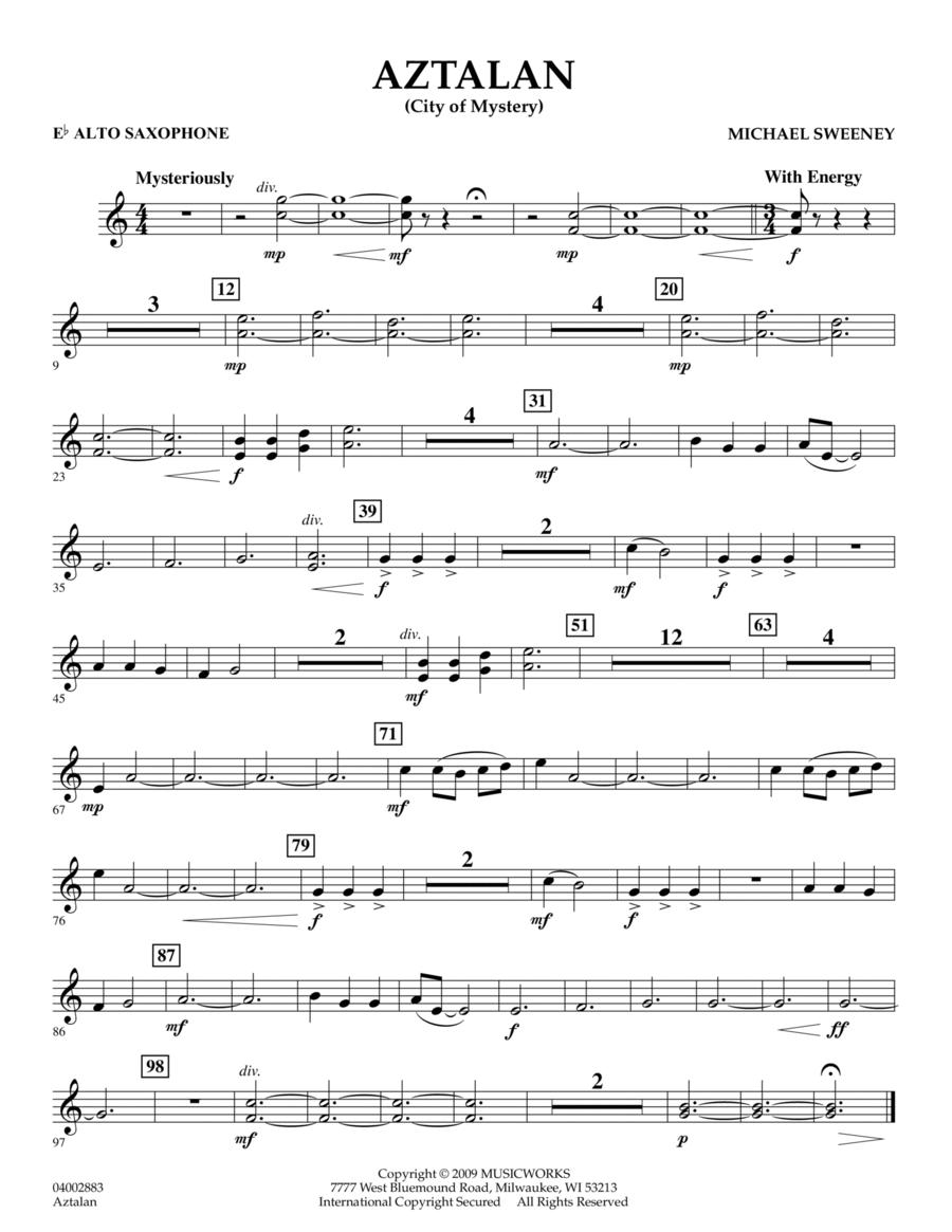 Aztalan (City of Mystery) - Eb Alto Saxophone