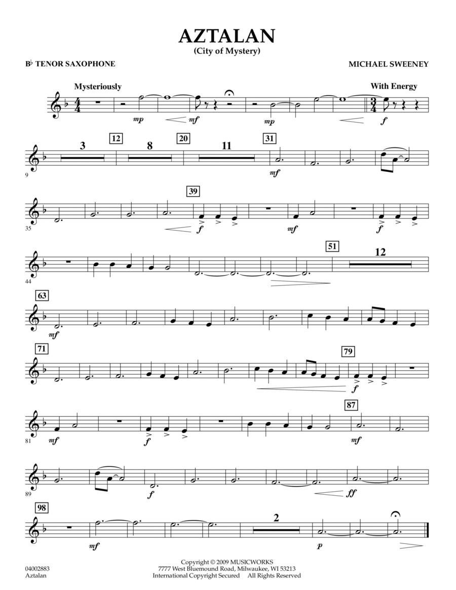 Aztalan (City of Mystery) - Bb Tenor Saxophone