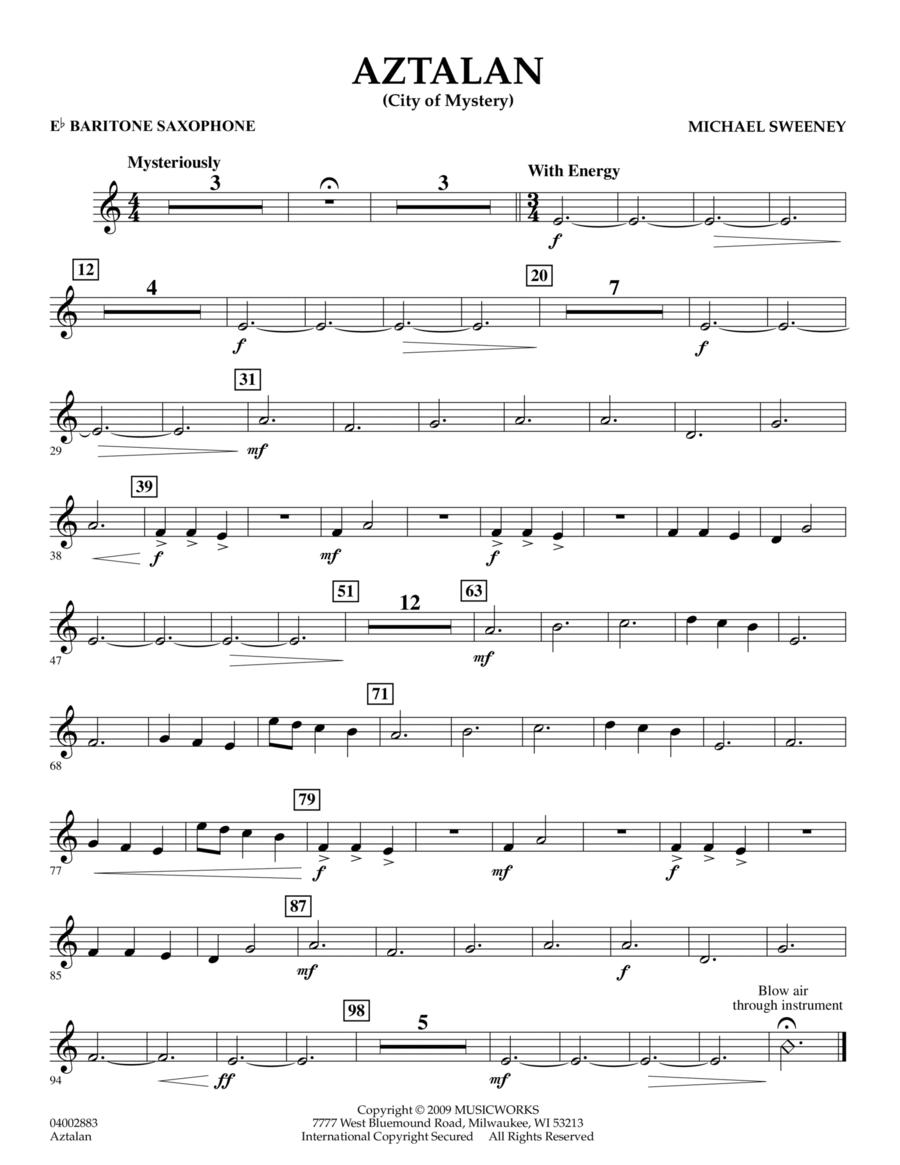 Aztalan (City of Mystery) - Eb Baritone Saxophone
