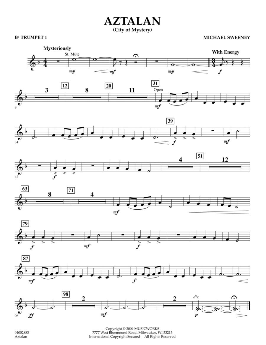 Aztalan (City of Mystery) - Bb Trumpet 1