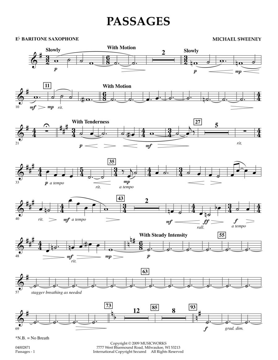 Passages - Eb Baritone Saxophone