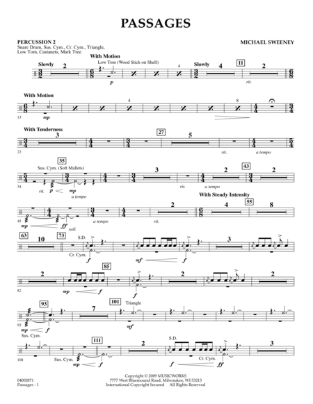 Passages - Percussion 2