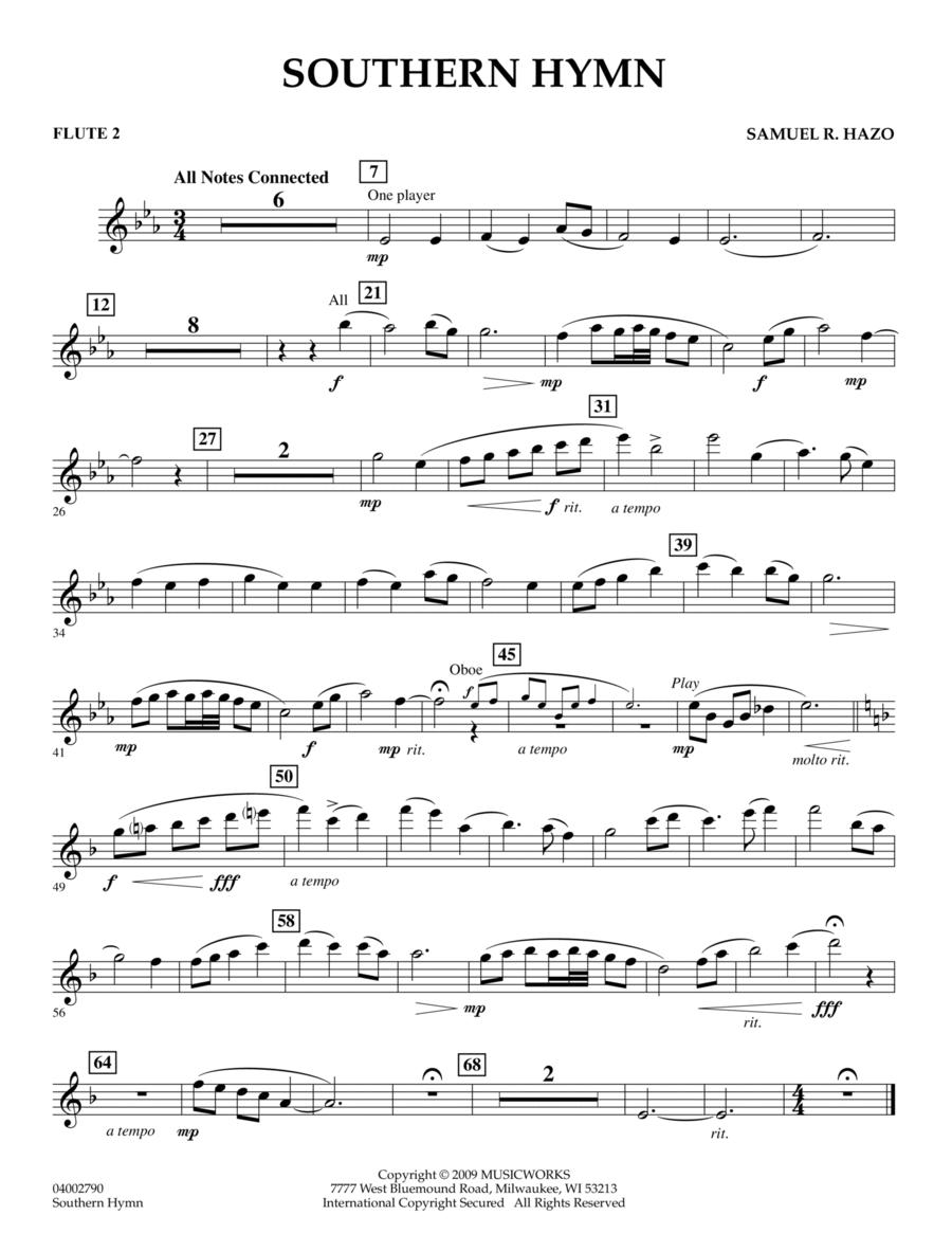 Southern Hymn - Flute 2