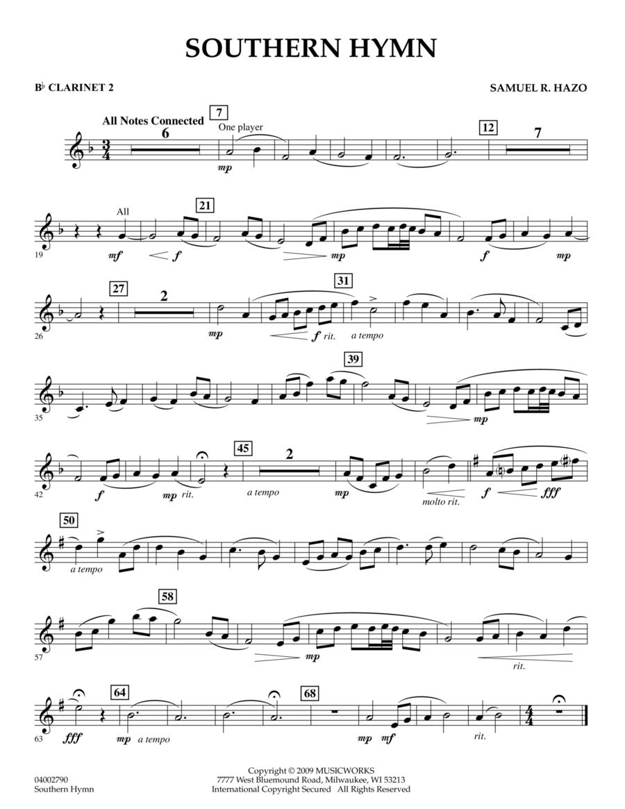 Southern Hymn - Bb Clarinet 2